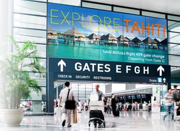 Giải pháp màn hình ghép cho sân bay