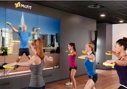 Ứng dụng thực tiễn của màn hình ghép trong ngành Gym